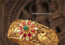 antique gold peacock kada