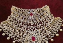detachable bridal diamond ruby choker