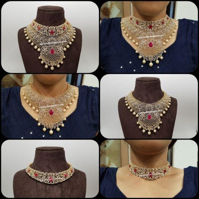 detachable multi purpose diamond necklace
