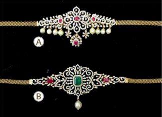 diamond choker plus bajuband designs