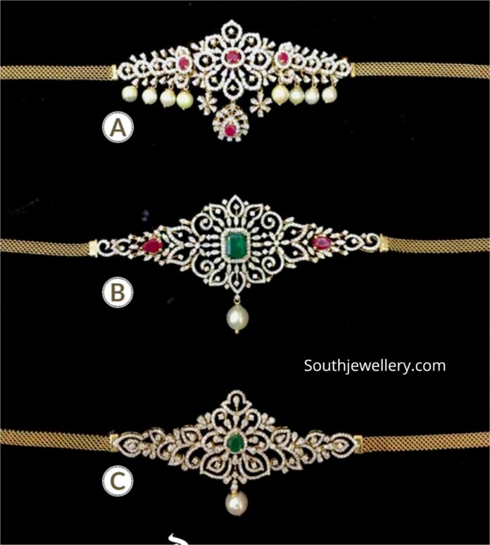 diamond choker plus bajuband designs