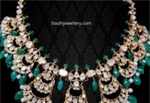 flat diamond and emerald necklace