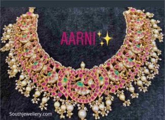 kundan peacock necklace (1)