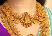 lakshmi kasu necklace and haram