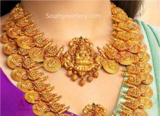 lakshmi kasu necklace and haram