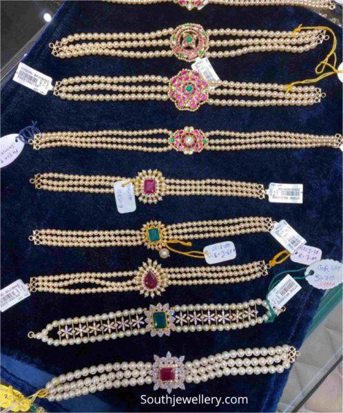 light weight pearl bajuband plus choker designs (1)