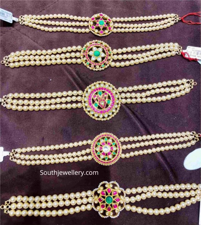 light weight pearl bajuband plus choker designs