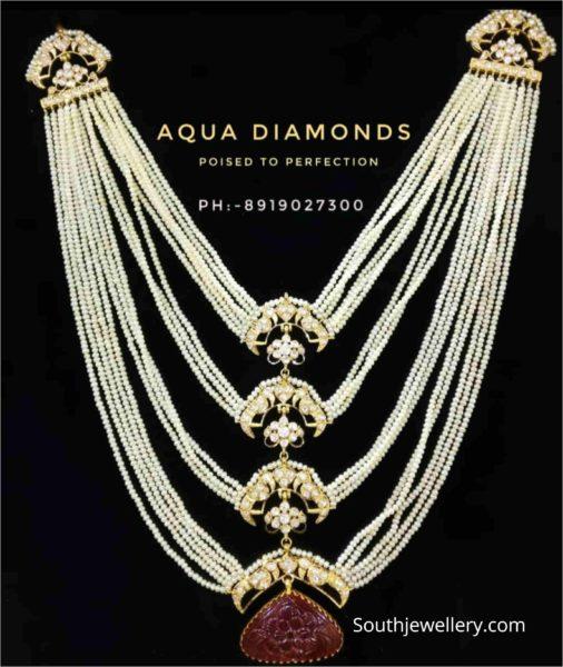 multi strand layered pearl haram