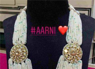 multi strand pearl mala with polki side pendants