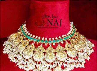peacock guttapusalu necklace