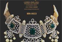 pearl choker with diamond pendant mangatrai neeraj