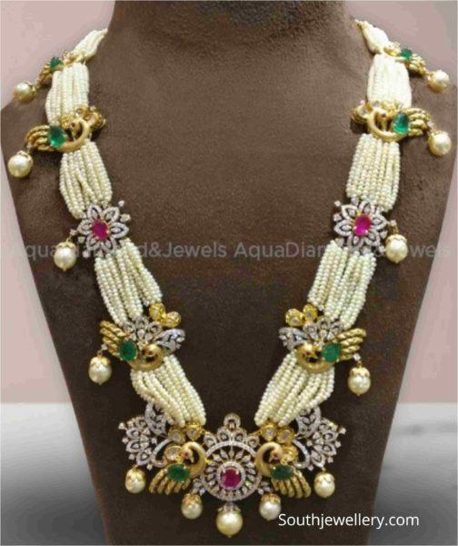 pearl haram with diamond motifs