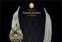 pearl necklace with side brooch