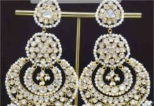 polki diamond chandbalis