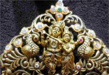 radha krishna nakshi pendant