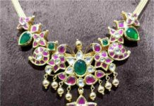 simple kundan necklace