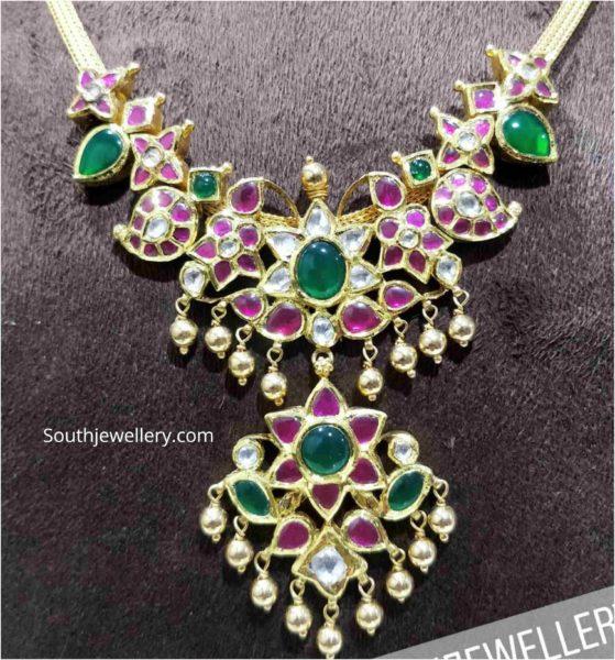 simple kundan necklace
