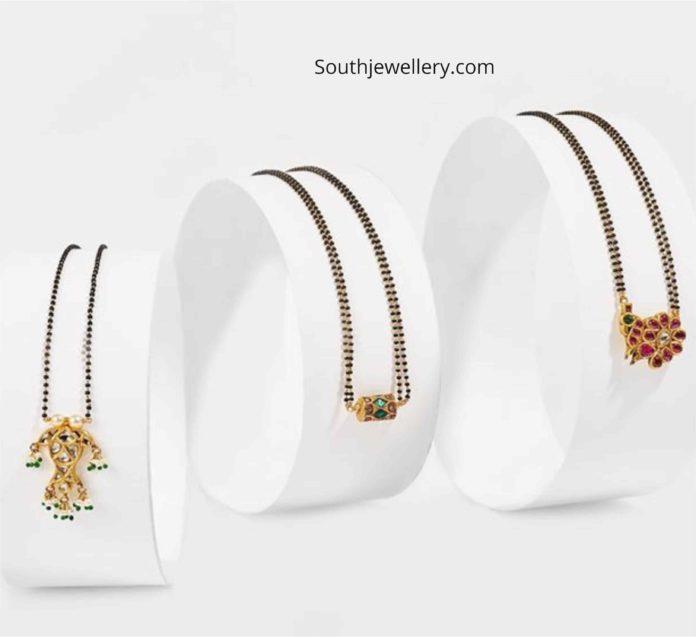simple nallapusalu necklace designs