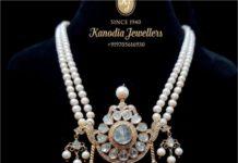 south sea pearl mala with uncut diamond pendant