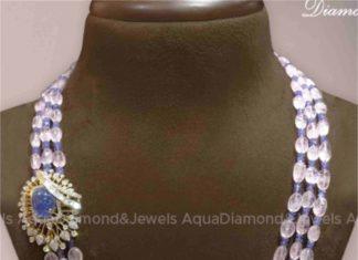 tanzanite beads necklace