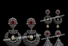 detachable diamond jhumkas