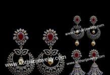 detachable diamond jhumkas