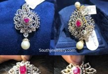 2 in 1 diamond ruby pendants plus maang tikkas