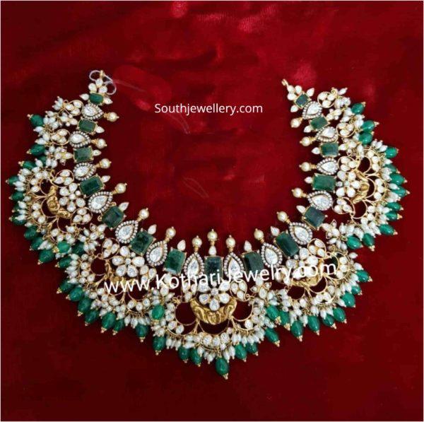 cz emerald necklace