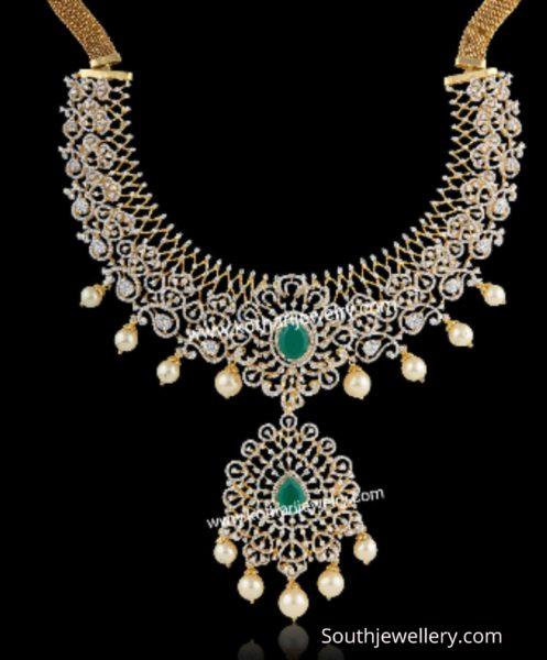 diamond emerald necklace (6)