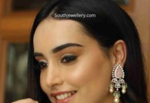 emerald choker and earrings jagdish jewellers (1)