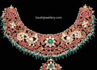 kundan peacock necklace (2)