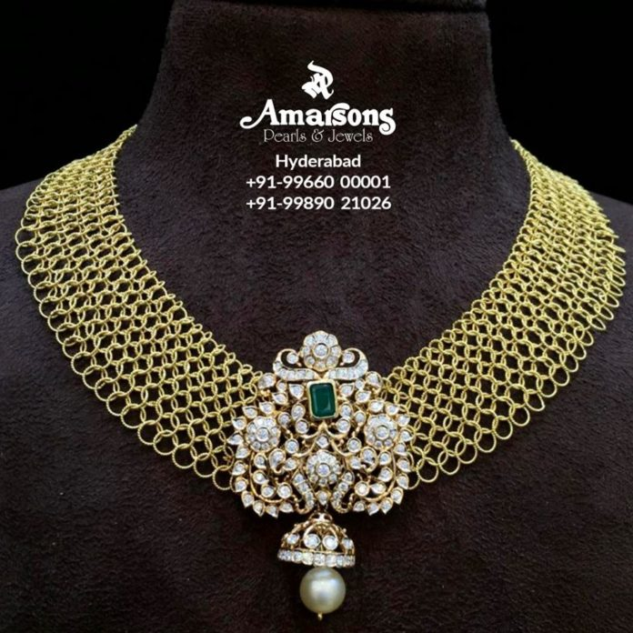 latest gold necklace designs amarsons pearls (1)