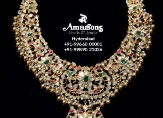 latest gold necklace designs amarsons pearls (5)