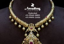 latest gold necklace designs amarsons pearls (6)