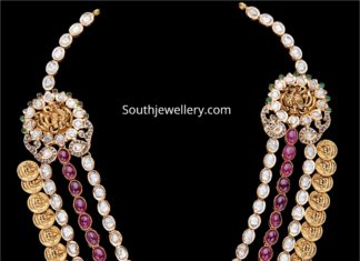 layered lakshmi kasu necklace