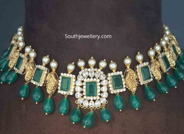 peacock emerald necklace