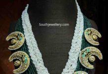 pearl emerald kundan haram