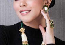 pearl haram with polki pendant hazoorilal