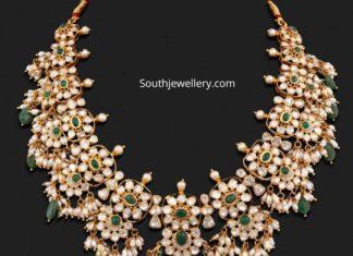 uncut diamond and emerald necklace (1)