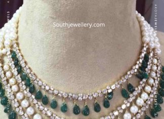 uncut diamond and south sea pearl necklace (1)