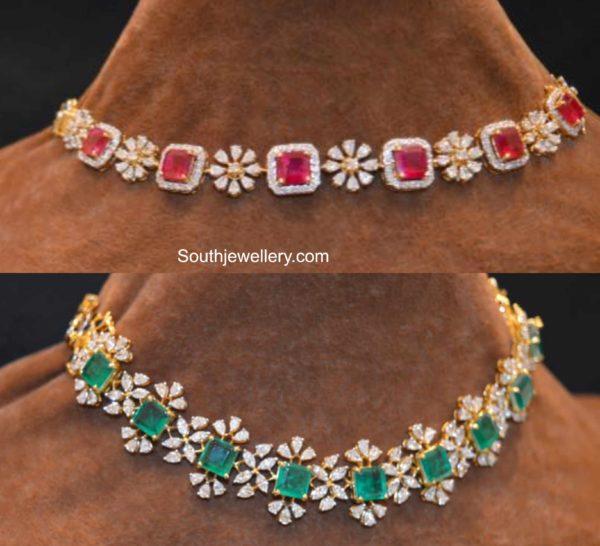 2 in 1 diamond choker plus bracelet designs (1)