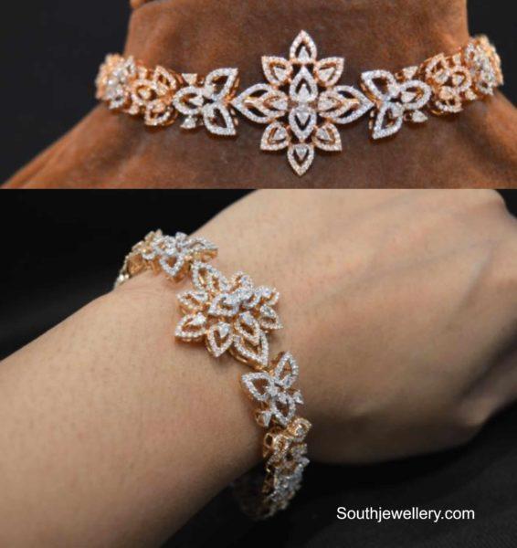 2 in 1 diamond choker plus bracelet designs (3)