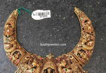antique gold lakshmi necklace