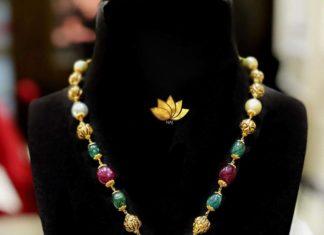 beads chain with peacock oendant naj