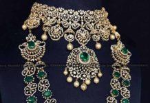 diamond choker and diamond emerald step haram