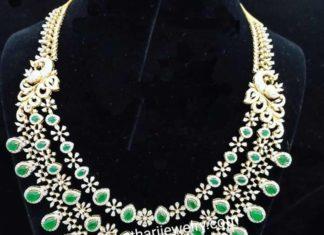 diamond emerald step necklace