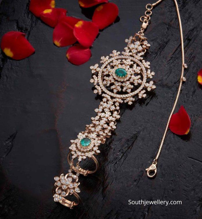 diamond haathphool for brides
