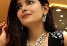 diamond necklace and haram by challani