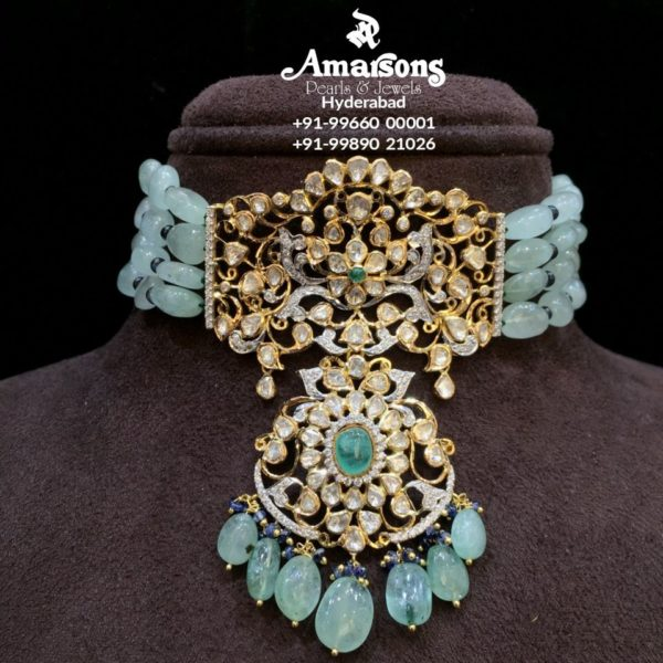emerald beads necklace (4)