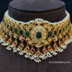 emerald ruby gold choker